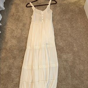 Long white summery dress
